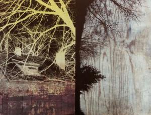 """Landscape 19, lithograph, 13.5"""" x 10.5"""", 2015"""